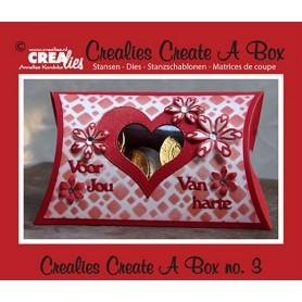 Crealies Create A Box no. 3 Kissen box 11 x 18 cm