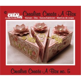 Crealies Create A Box no. 5 Kuchen 13,5 x 18,3 cm