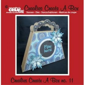 Crealies Create A Box no. 11 Tasche 14,6 x 17,7 cm
