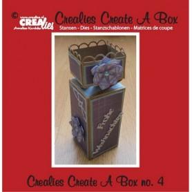 Crealies Create A Box no. 4 Halb Toffee-Box 5,5 x 19 cm