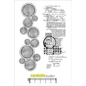 Carabelle Studio Tampon : Des ronds et du texte