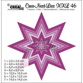 Crealies Crea-nest-dies XXL no. 46 8 Punkt Stern max. 14,0 x 14,0 cm