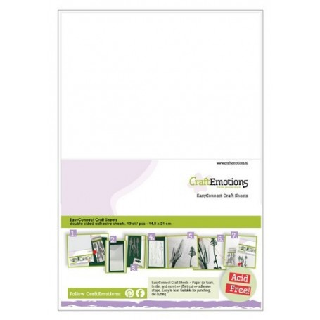 CraftEmotions EasyConnect (Doppelklebeband) Craft sheets A5 - 10 sheets