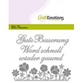 CraftEmotions Die Tekst - Gute Besserung Card 11x9cm