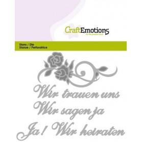 CraftEmotions Die Tekst - Wir trauen uns) Card 11x9cm
