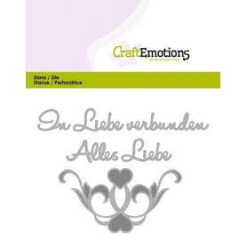 CraftEmotions Die Tekst - Alles Liebe Card 11x9cm