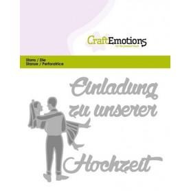 CraftEmotions Die Tekst - Einladung Hochzeit Card 11x9cm