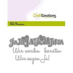 CraftEmotions Die Tekst - Wir werden heiraten Card 11x9cm
