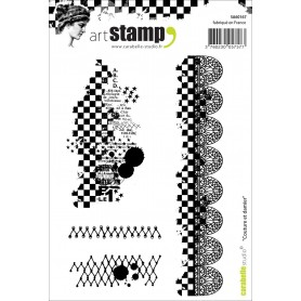 Carabelle stamp A6 couture et damier