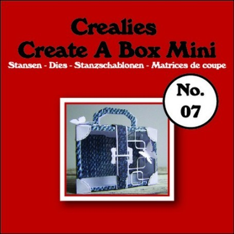Crealies Create A Box Mini no. 07 Suitcase 115x109mm