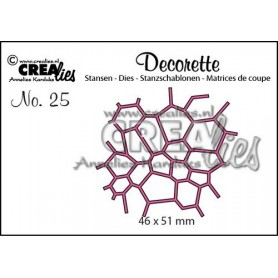 Crealies Decorette no. 25 mozaiek 46x51 mm