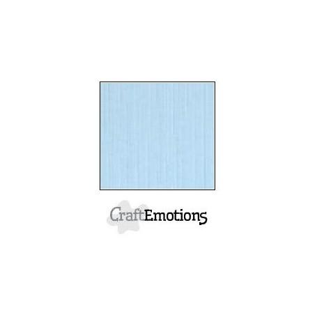 CraftEmotions Leinenkarton 10 Bg azurblau 27x13,5cm 250gr