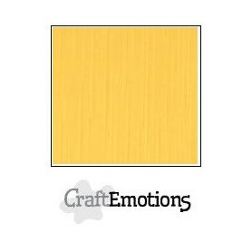CraftEmotions Leinenkarton 10 Bg Gold 27x13,5cm 250gr