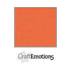 CraftEmotions Leinenkarton 10 Bg orange 27x13,5cm 250gr