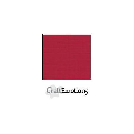 CraftEmotions Leinenkarton 10 Bg Weihnachten rot 27x13,5cm 250gr