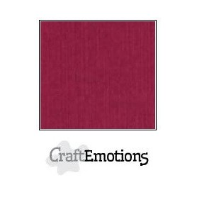 CraftEmotions Leinenkarton 10 Bg bordeaux 27x13,5cm 250gr