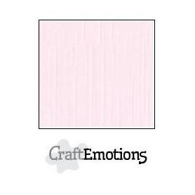 CraftEmotions Leinenkarton 10 Bg Baby-Rosa 27x13,5cm 250gr