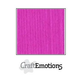 CraftEmotions Leinenkarton 10 Bg Coral Magenta 27x13,5cm 250gr