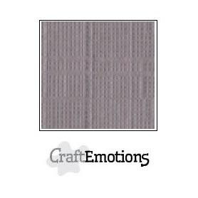 CraftEmotions Leinenkarton 10 Bg Silber 27x13,5cm 250gr