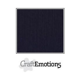 CraftEmotions Leinenkarton 10 Bg schwarz 27x13,5cm 250gr