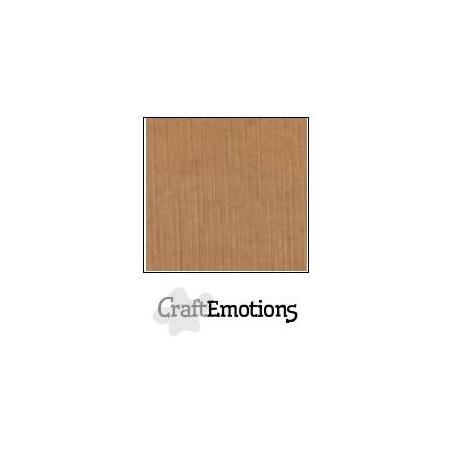 CraftEmotions Leinenkarton 10 Bg Mokka 27x13,5cm 250gr