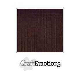 CraftEmotions Leinenkarton 10 Bg Schokolade 27x13,5cm 250gr
