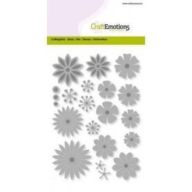 CraftEmotions Die - Blumen-mix gross Card 10,5x14,8cm