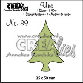 Crealies Uno no. 39 Dünnen Baum 35 x 50 mm