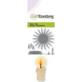 CraftEmotions Die - brennende Kerze 3D Card 5x10cm