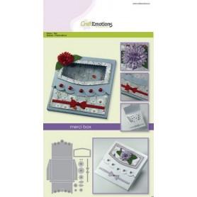 CraftEmotions Die - merci box Card A5 box 80x80x10 mm