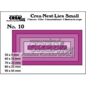 Crealies Crea-nest-dies small no. 10 Rechtecke  max. 90 x 45 mm