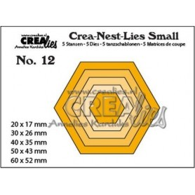 Crealies Crea-nest-dies small no. 12 Hexagons  max. 60 x 52 mm