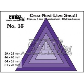 Crealies Crea-nest-dies small no. 13 Dreiecke  max . 81 x 70 mm