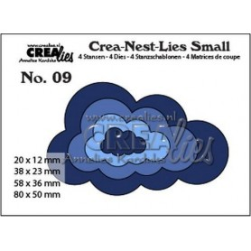 Crealies Crea-nest-dies small no. 9 Wolken max. 80 x 50 mm