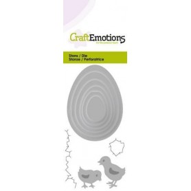 CraftEmotions Die - Eier mit Küken Card 5x10cm
