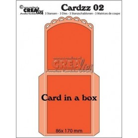 Crealies Cardzz no 2 Card in a box CLCardzz02 / 86 x 170 mm