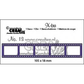 Crealies X-tra no. 13 Filmstreifen klein 105 x 18 mm / CLXtra13