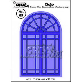 Crealies Solo Fenster CLSolo 03 / 66x105-62x99mm