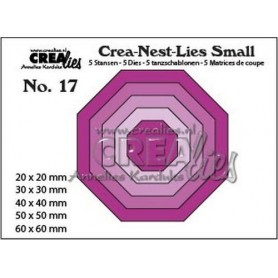 Crealies Crea-nest-dies small no. 17 5x Achteck