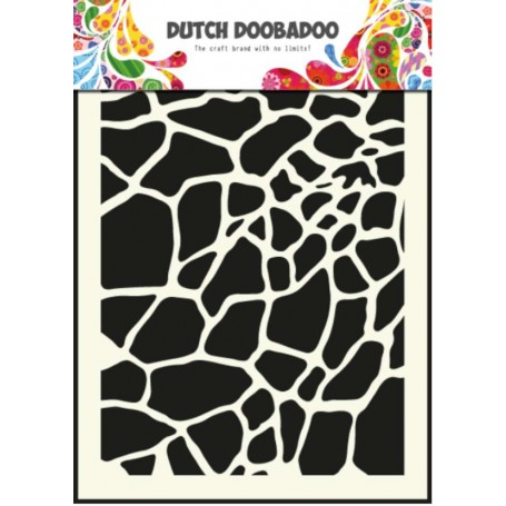 Dutch Boodaboo Dutch Mask Art stencil Giraffe - A5