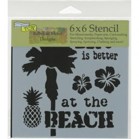 "Crafter's Workshop Template 6""X6"" At The Beach"