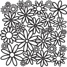 "Crafter's Workshop Template 12""X12"" Daisy Cluster"