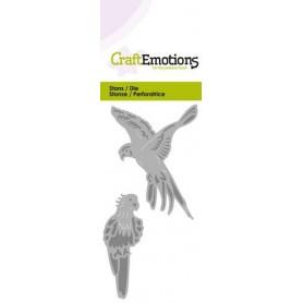 CraftEmotions Die - Papagei Card 5x10cm
