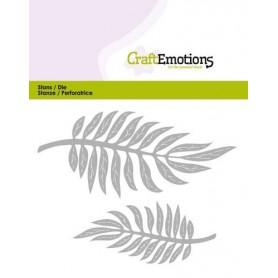 CraftEmotions Die - tropische Blätter Card 5x10cm