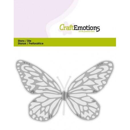 CraftEmotions Der - Schmetterling groß Card 5x10cm