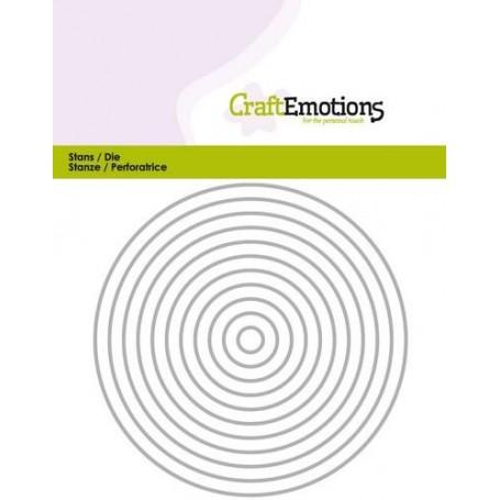 CraftEmotions Die - Borten gerader Kreis Card 5x10cm