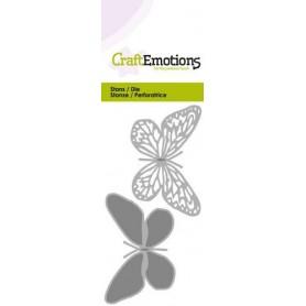 CraftEmotions Die - Schmetterling 2x Card 5x10cm