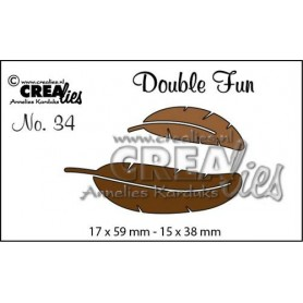 Crealies Double Fun no. 34 Federn 17x59-15x38mm