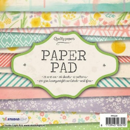 Studio Light Paper pad 36 Bogen 12 designs nr 69 PPSL69 15x15 cm