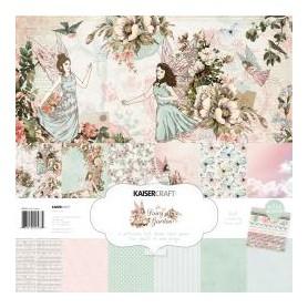 """Kaisercraft Paper Pack 12""""X12"""" 12/Pkg Fairy Garden"""